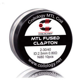 Coilology MTL Fused Clapton coil Ni80 0.8ohm