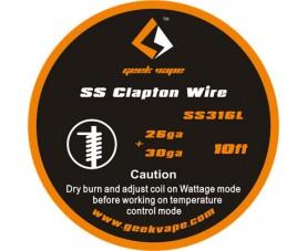 GeekVape SS Clapton TC Wire (26GA + 30GA) 3m