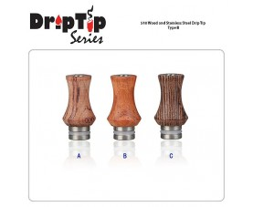 510 Wood and Stainless Steel Drip Tip Type B