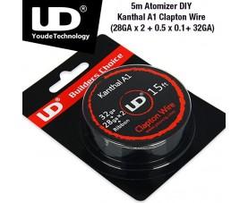 UD Atomizer DIY Kanthal A1 Clapton Wire 5m (28GA X 2 + 0.5 X 0.1+ 32GA)
