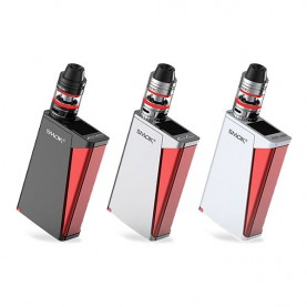 Smoktech 220W H-PRIV TC Kit WO Battery - Silver And White