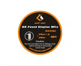GeekVape Fused Clapton SS316 Tape Wire (26GA2Paralleled 30GA) - 3,05m